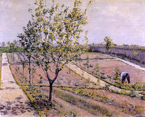 Gustave Caillebotte Kitchen Garden, Petit Gennevilliers - Hand Painted Oil Painting