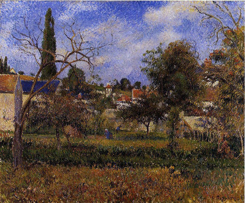Camille Pissarro Kitchen Gardens, Pontoise - Hand Painted Oil Painting