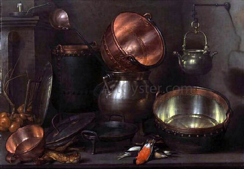 Cornelis Jacobsz Delff Kitchen Still-Life - Hand Painted Oil Painting