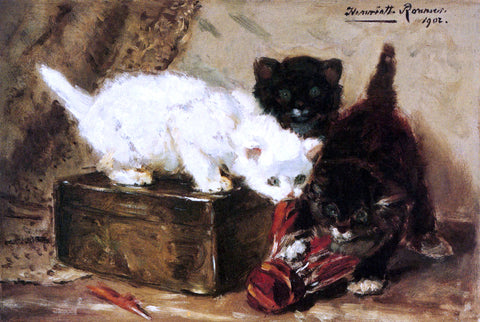 Henriette Ronner-Knip Kittens At Play - Hand Painted Oil Painting