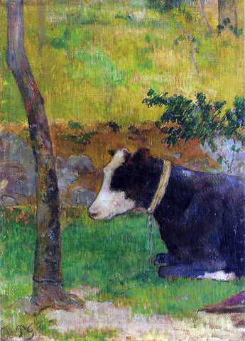 Paul Gauguin Kneeling Cow - Hand Painted Oil Painting