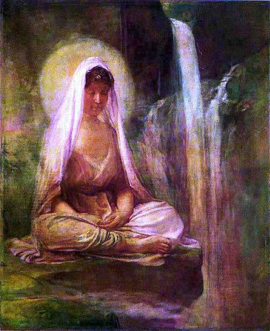 John La Farge Kwannon Meditating on Human Life - Hand Painted Oil Painting