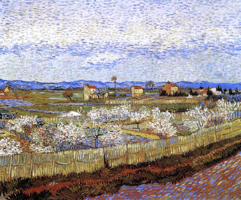 Vincent Van Gogh La Crau with Peach Trees in Bloom - Hand Painted Oil Painting
