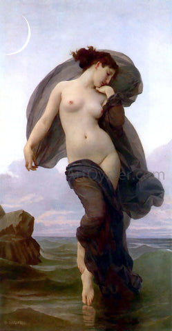 William Adolphe Bouguereau La Crepuscule (also known as Evening Mood) - Hand Painted Oil Painting