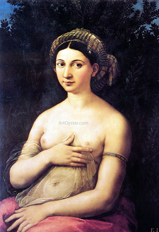 Raphael La Fornarina (also known as Portrait of a Young Woman) - Hand Painted Oil Painting