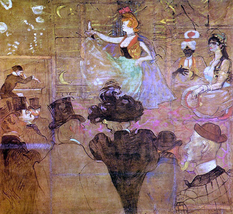 Henri De Toulouse-Lautrec La Goulue Dancing (also known as Les Almees) - Hand Painted Oil Painting