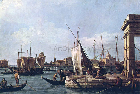 Canaletto La Punta Della Dogana - Hand Painted Oil Painting