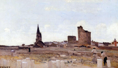 Jean-Baptiste-Camille Corot La Rochelle - Quarry near the Port Entrance - Hand Painted Oil Painting