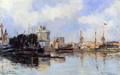 Albert Lebourg La Rochelle, the Harbor, Bright Sky - Hand Painted Oil Painting