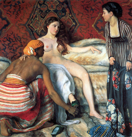 Jean Frederic Bazille La Toilette - Hand Painted Oil Painting