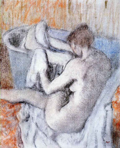 Edgar Degas La Toilette apres le Bain - Hand Painted Oil Painting