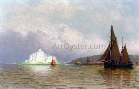 William Bradford Labrador Fishing Settlement - Hand Painted Oil Painting