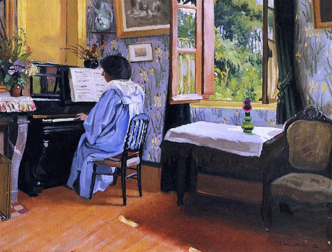 Felix Vallotton A Lady at the Piano - Hand Painted Oil Painting