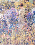 Frederick Carl Frieseke A Lady in a Garden - Hand Painted Oil Painting