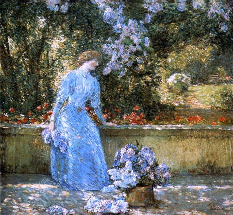 Frederick Childe Hassam Lady in the Park (also known as In the Garden) - Hand Painted Oil Painting