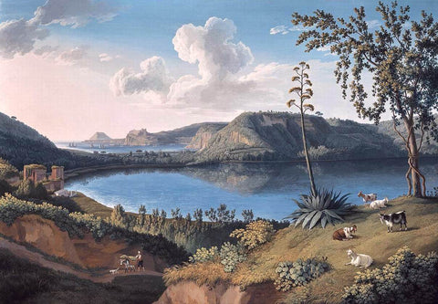 Jacob Philipp Hackert Lago d'Averno - Hand Painted Oil Painting