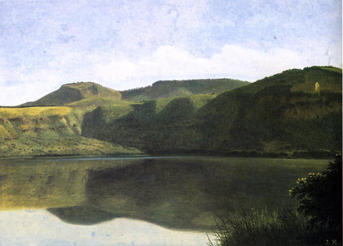 Joseph August Knip Lake Albano with Palazzolo - Hand Painted Oil Painting