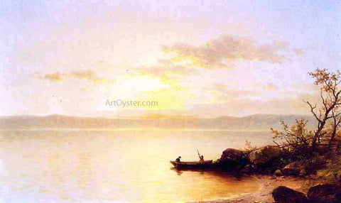 John W Casilear Lake at Sunset - Hand Painted Oil Painting