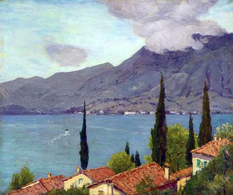 Charles Warren Eaton Lake Como - Hand Painted Oil Painting