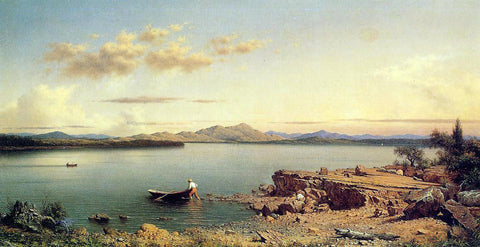 Martin Johnson Heade Lake George - Hand Painted Oil Painting