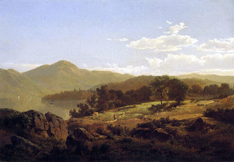 William Trost Richards Lake George, Opposite Caldwell - Hand Painted Oil Painting