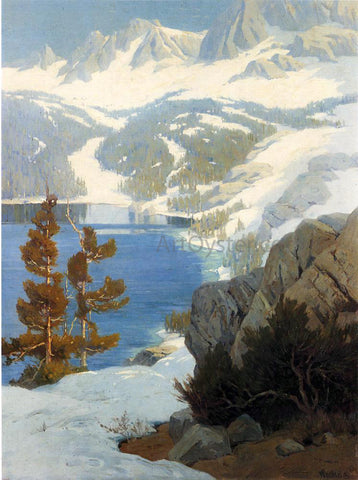 Elmer Wachtel Lake George, Sierra Nevada - Hand Painted Oil Painting