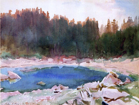 John Singer Sargent Lake in the Tyrol - Hand Painted Oil Painting