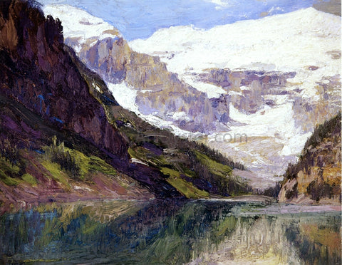 Edward Potthast Lake Louise - Hand Painted Oil Painting