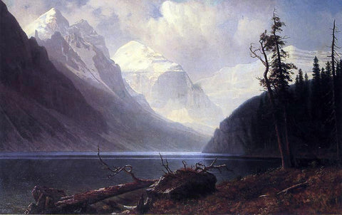 Albert Bierstadt Lake Louise - Hand Painted Oil Painting