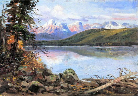 Charles Marion Russell Lake McDonald - Hand Painted Oil Painting