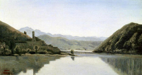 Jean-Baptiste-Camille Corot Lake Piediluco - Hand Painted Oil Painting