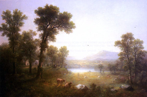 Asher Brown Durand Landscape Beyond the Tree - Hand Painted Oil Painting