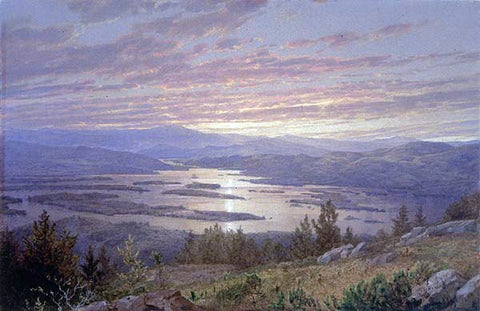 William Trost Richards Lake Squam from Red Hill - Hand Painted Oil Painting