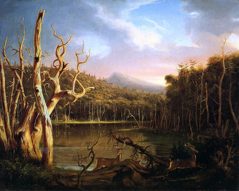Thomas Cole Lake with Dead Trees (also known as Catskill) - Hand Painted Oil Painting