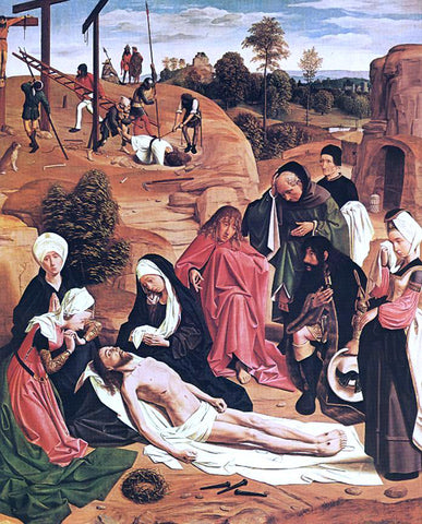 Geertgen Sint Jans Lamentation over the Dead Christ - Hand Painted Oil Painting
