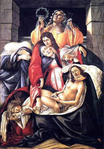 Sandro Botticelli Lamentation over the Dead Christ - Hand Painted Oil Painting