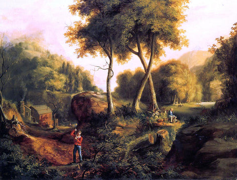 Thomas Cole Landscape - Hand Painted Oil Painting