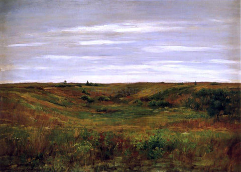 William Merritt Chase Landscape: A Shinnecock Vale - Hand Painted Oil Painting