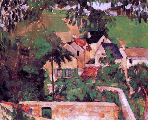 Paul Cezanne A Landscape at Auvers - Hand Painted Oil Painting