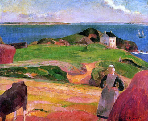 Paul Gauguin Landscape at le Pouldu - the Isolated House - Hand Painted Oil Painting