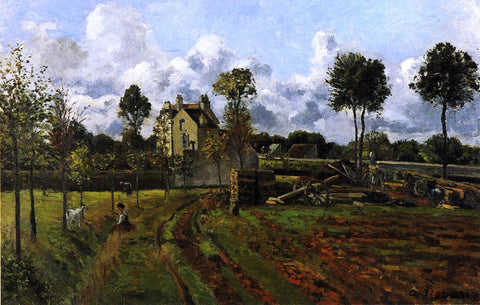Camille Pissarro Landscape at Pontoise - Hand Painted Oil Painting