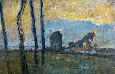 Edgar Degas Landscape at Valery-sur-Somme - Hand Painted Oil Painting