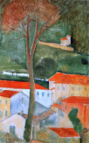 Amedeo Modigliani Landscape - Hand Painted Oil Painting