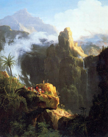 Thomas Cole Landscape Composition: St. John in the Wilderness - Hand Painted Oil Painting