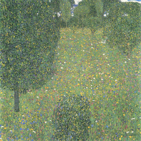 Gustav Klimt Landscape Garden Meadown in Flower - Hand Painted Oil Painting
