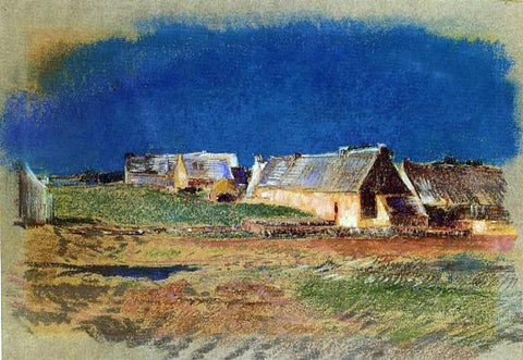 Odilon Redon Landscape in Brittany, Peyrelebade - Hand Painted Oil Painting