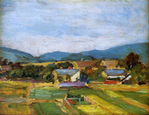 Egon Schiele Landscape in Lower Austria - Hand Painted Oil Painting