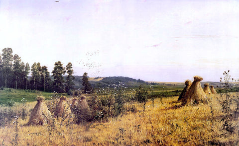 Ivan Ivanovich Shishkin Landscape in Polessie - Hand Painted Oil Painting