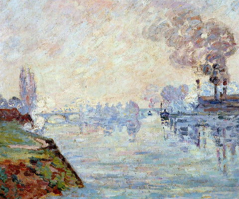 Armand Guillaumin Landscape in the Vicinity of Rouen - Hand Painted Oil Painting