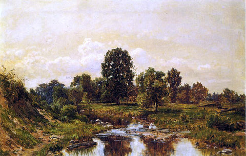 Hugh Newell Landscape, Morning (also known as Willimantic, Mornig, Dew Creek, Ohio) - Hand Painted Oil Painting